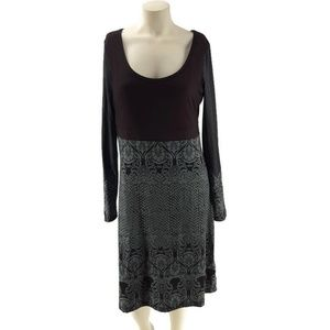 Prana Holly Mandala Print Long Sleeve Dress Large